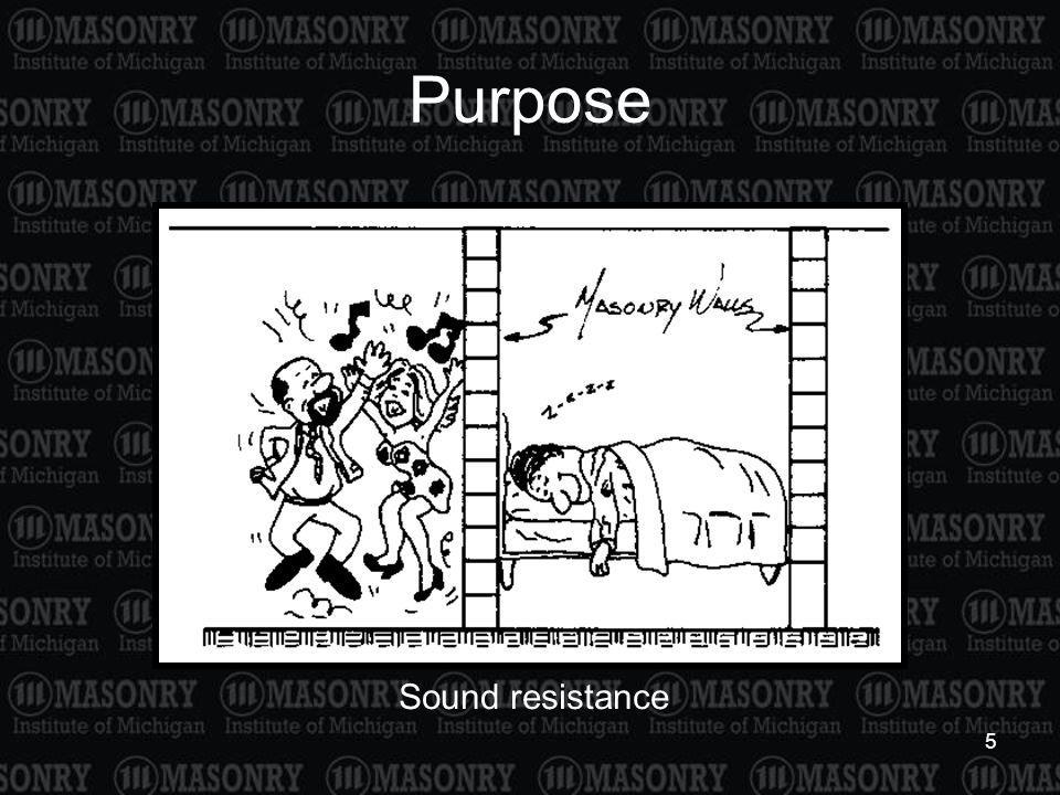 5 Purpose Sound resistance