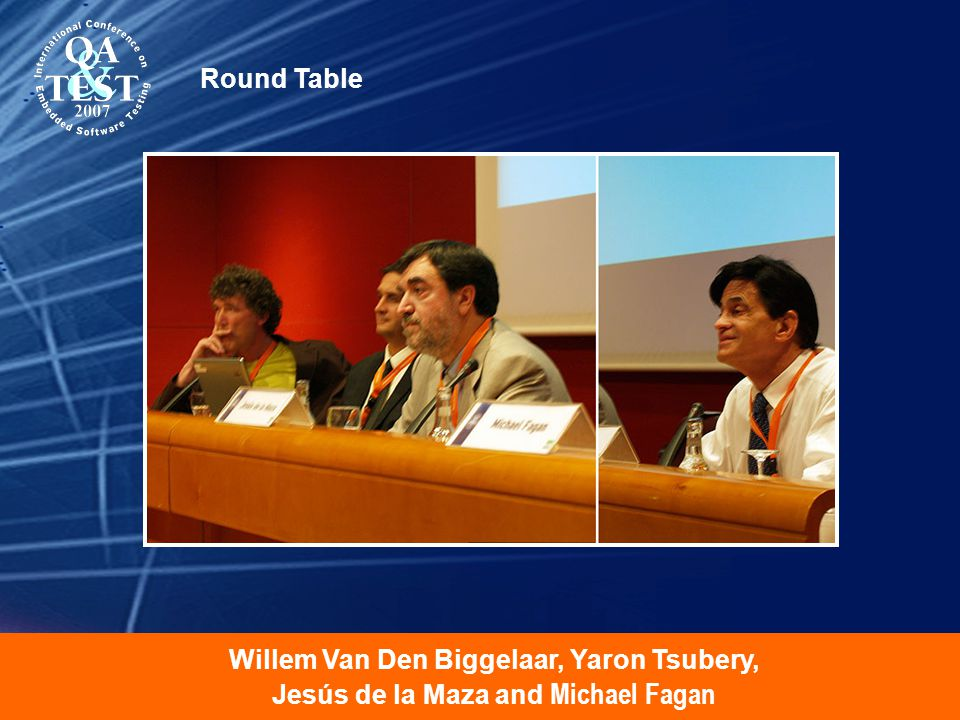 Willem Van Den Biggelaar, Yaron Tsubery, Jesús de la Maza and Michael Fagan Round Table