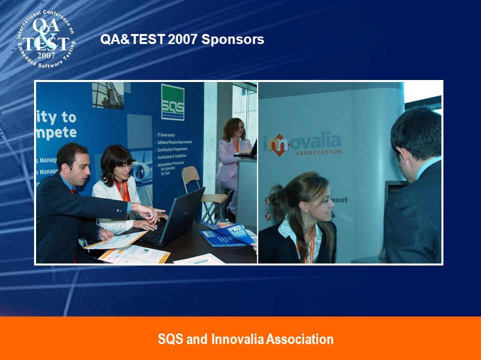 SQS and Innovalia Association QA&TEST 2007 Sponsors
