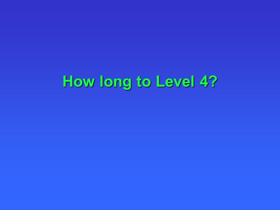 How long to Level 4?