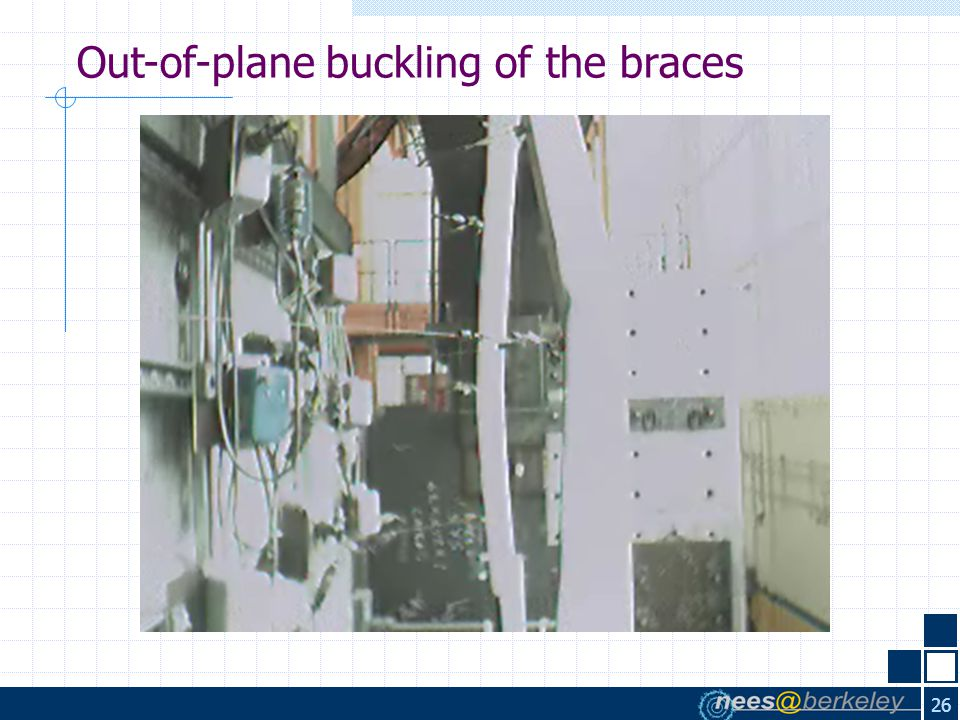 26 Out-of-plane buckling of the braces