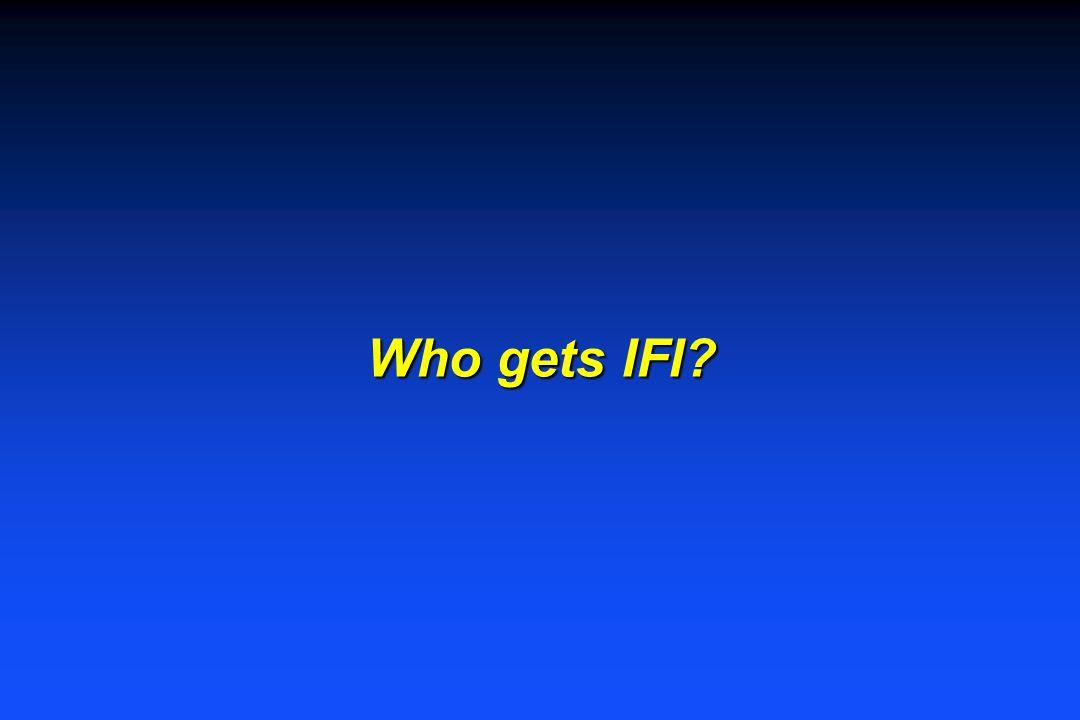 Who gets IFI?