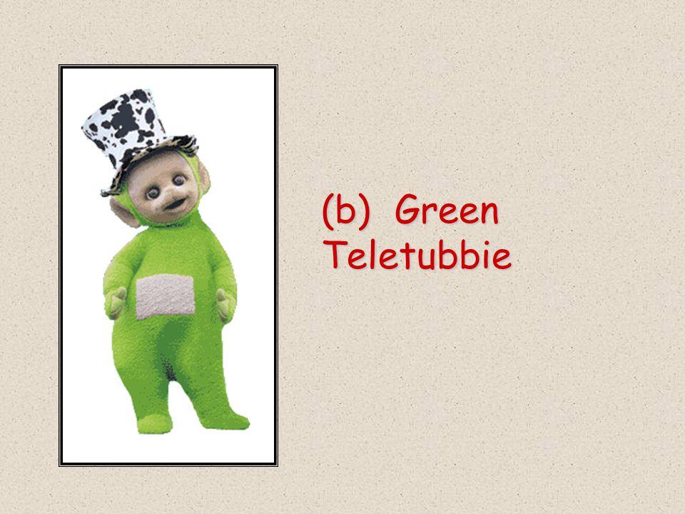 (b) Green Teletubbie