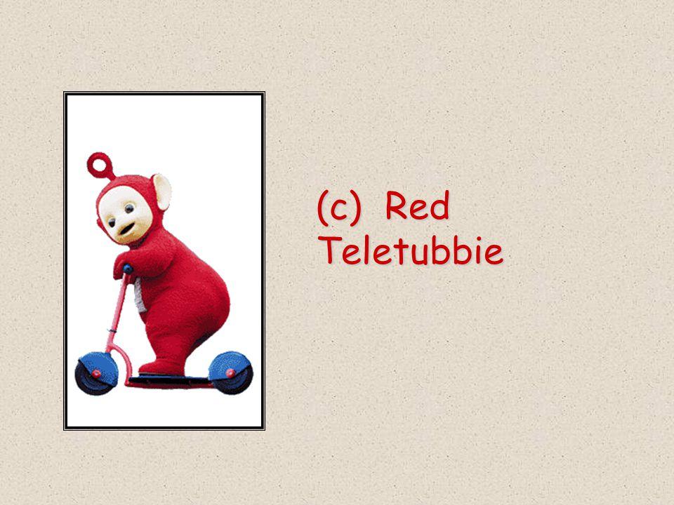 (c) Red Teletubbie