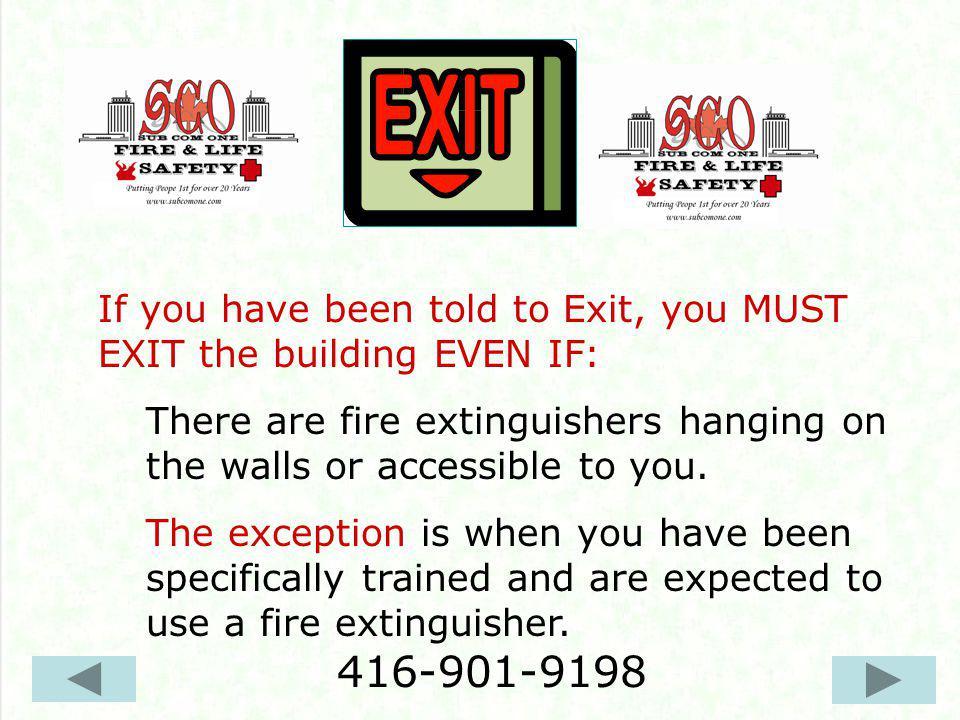 Immediately evacuate the building.