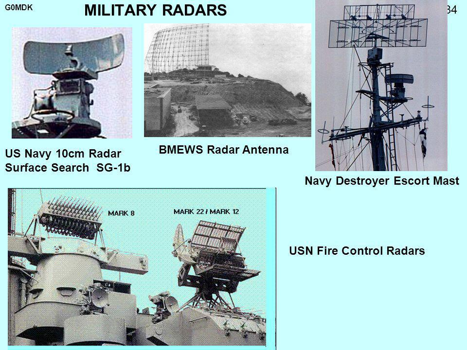 G0MDK 34 MILITARY RADARS US Navy 10cm Radar Surface Search SG-1b BMEWS Radar Antenna Navy Destroyer Escort Mast USN Fire Control Radars