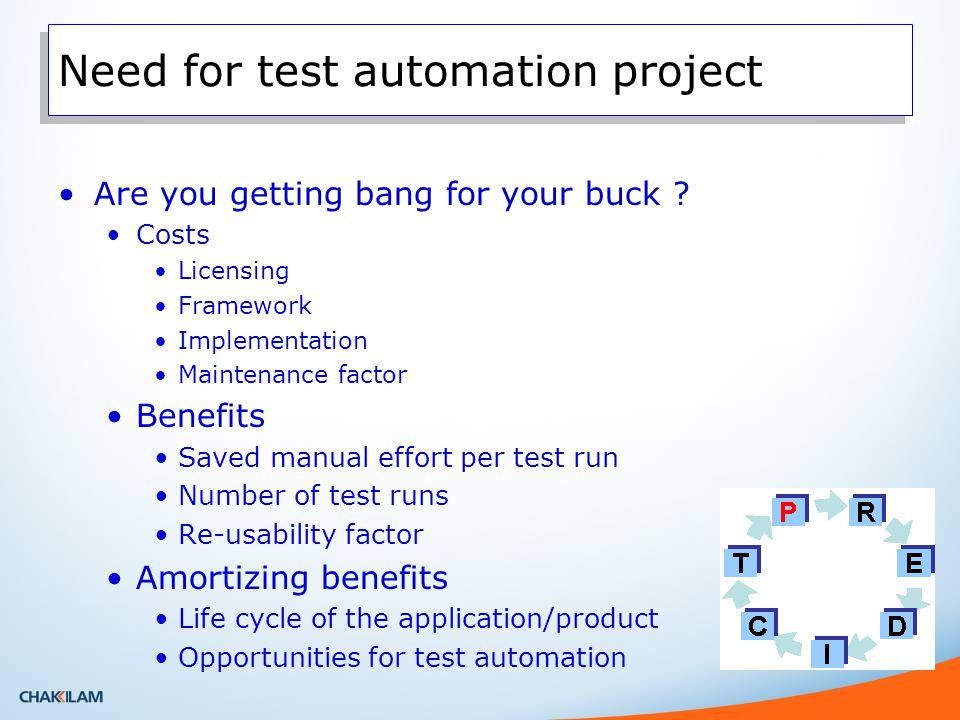 Need for test automation project Are you getting bang for your buck .