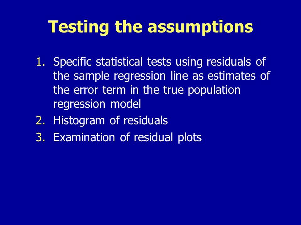 Examination of residual plots