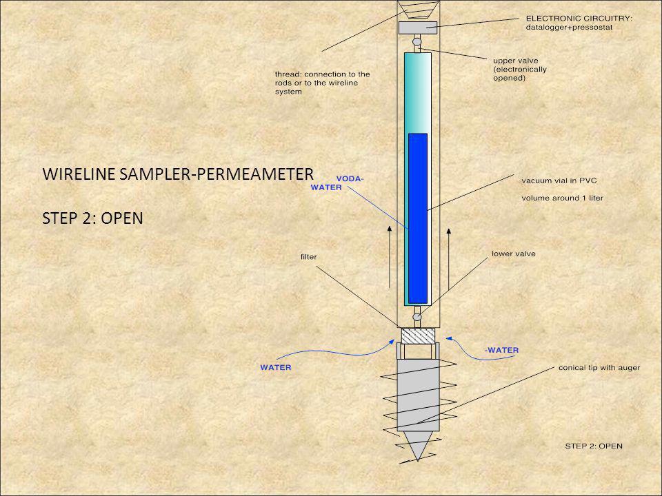 WIRELINE SAMPLER-PERMEAMETER STEP 2: OPEN