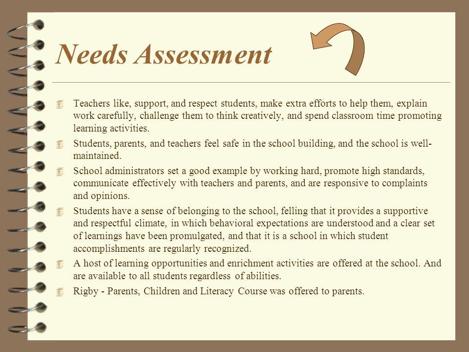 School Improvement Plan 4 Needs Assessment 4 Professional Development 4 Action Plan and Goals 4 School Climate
