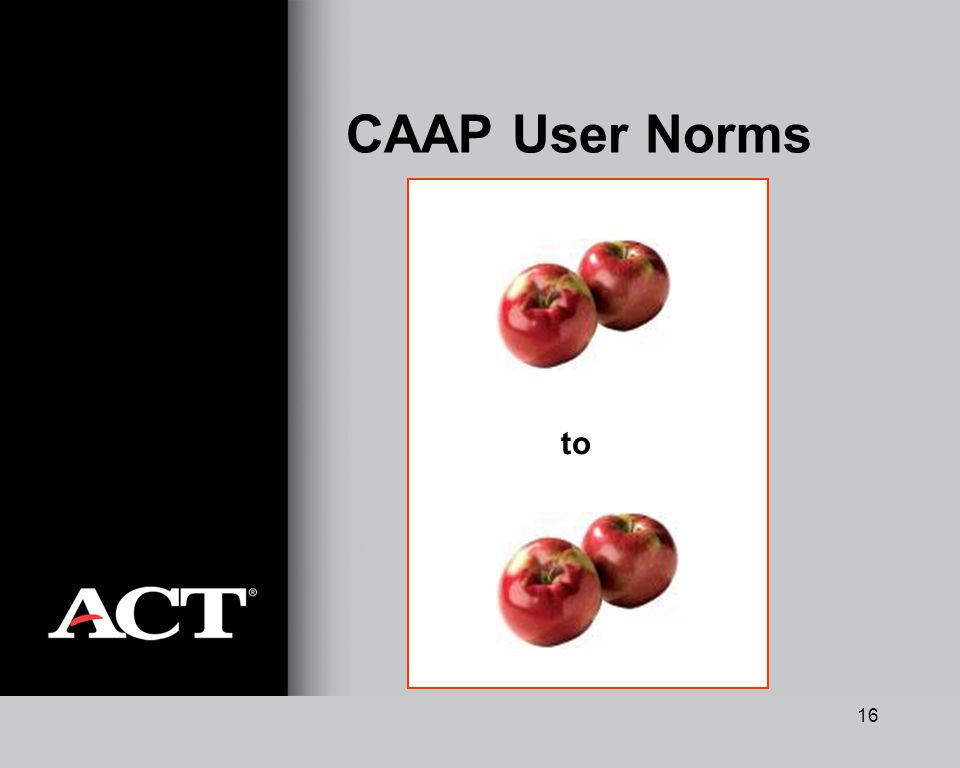 16 CAAP User Norms to