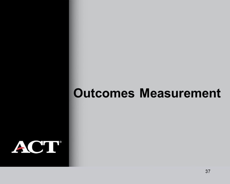 37 Outcomes Measurement