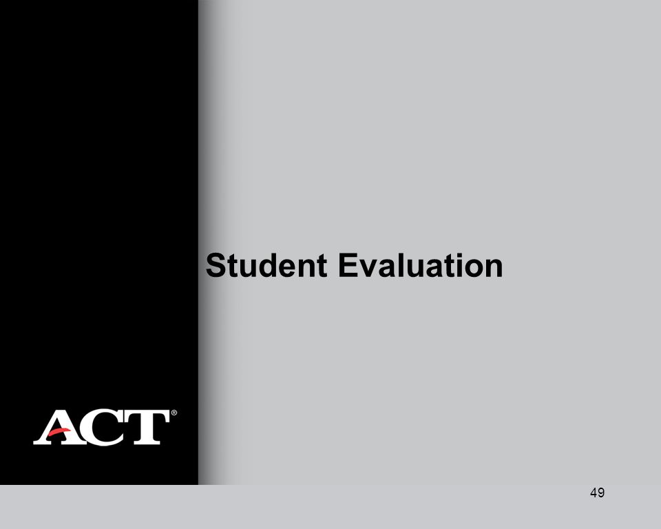 49 Student Evaluation