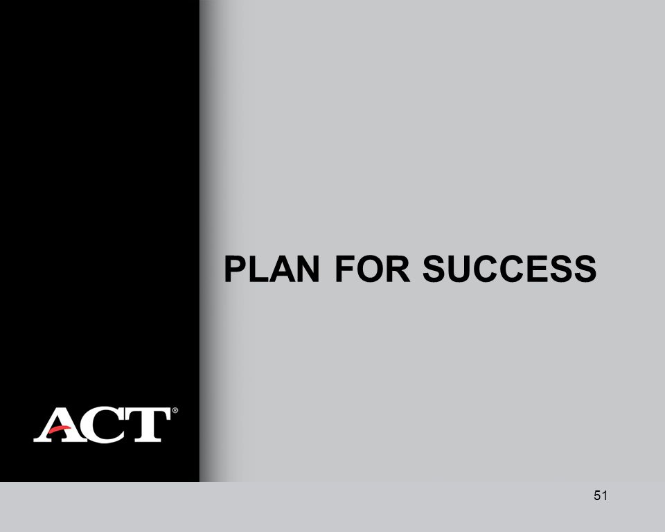 51 PLAN FOR SUCCESS