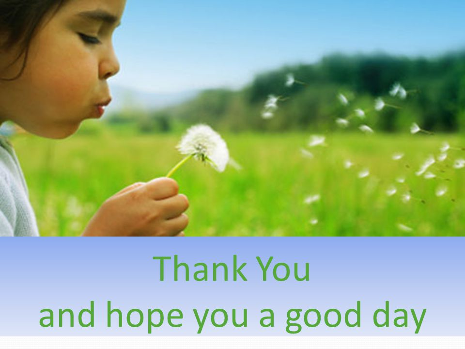 Thank You and hope you a good day