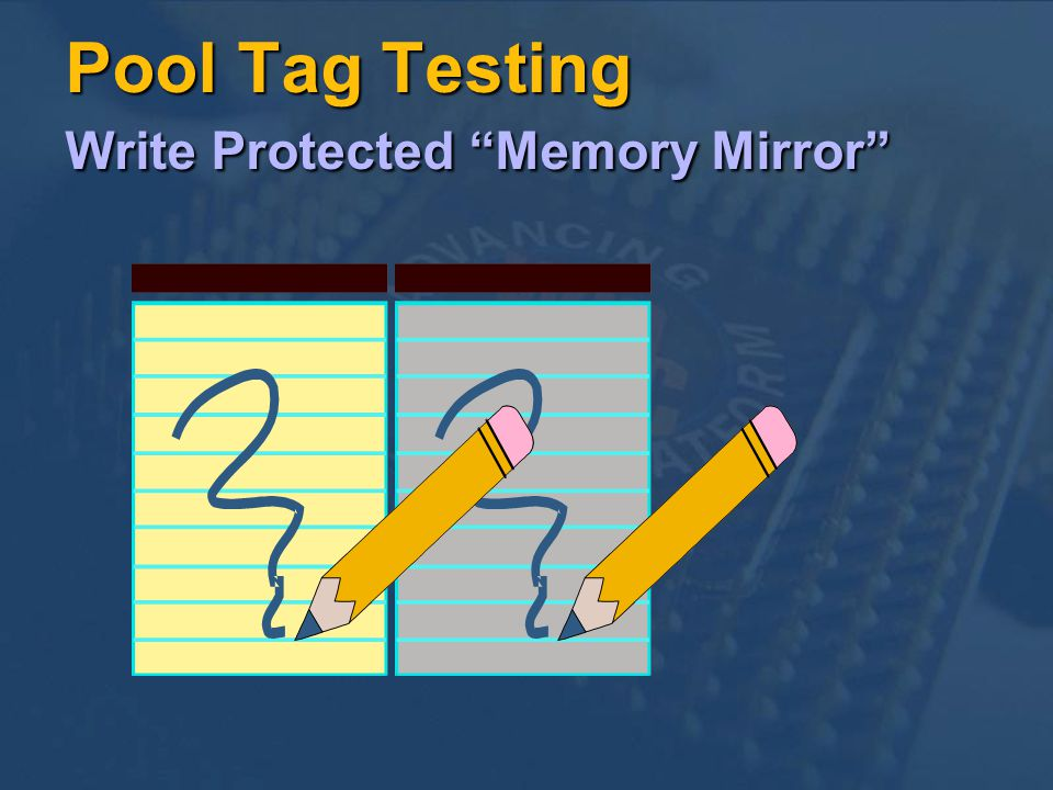 Pool Tag Testing Write Protected Memory Mirror