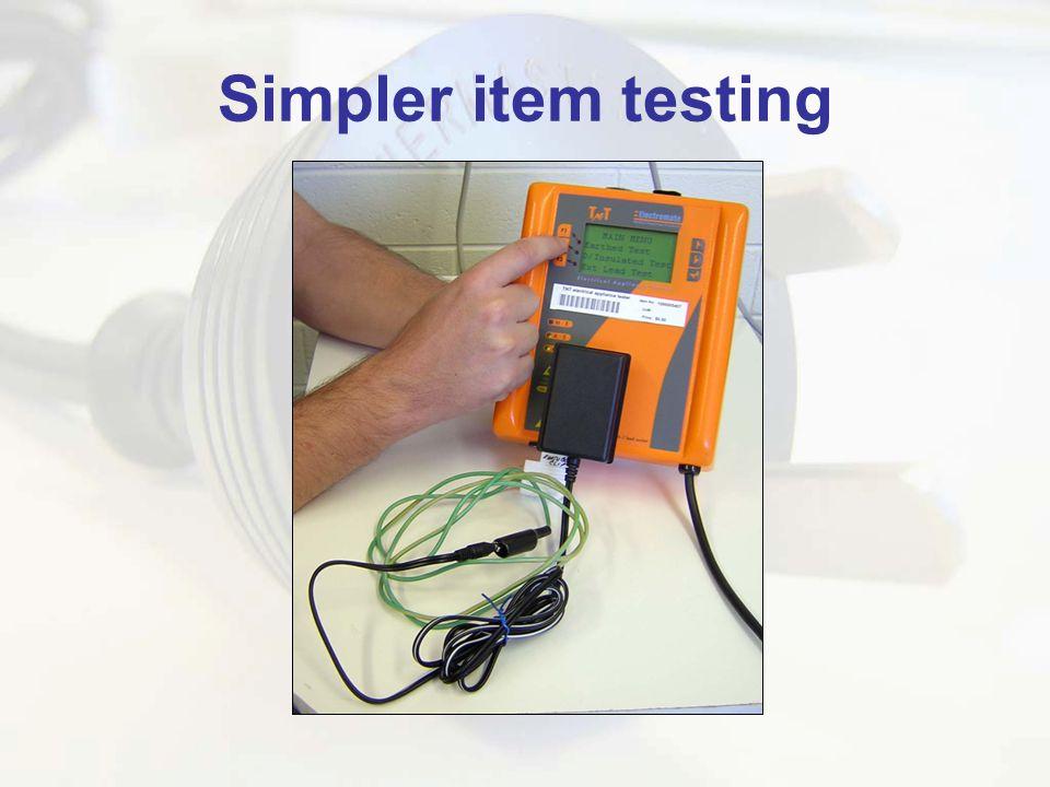 Simpler item testing