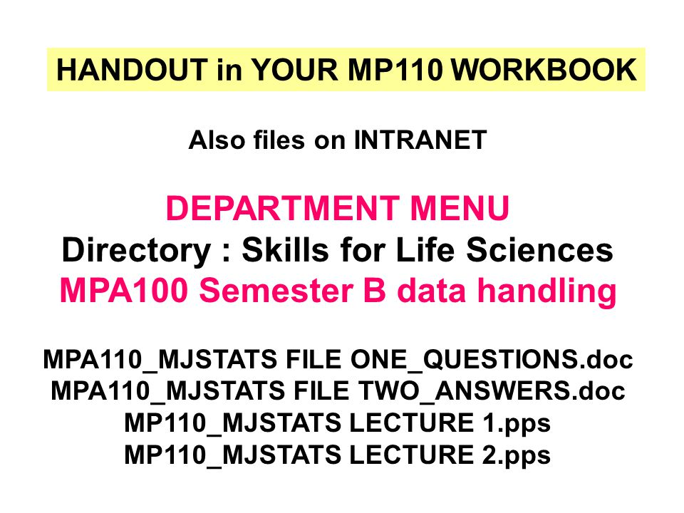 also see.. MP110 WebCT SELF-TEST MCQ (Q11-Q22) on your EXCEL print-outs