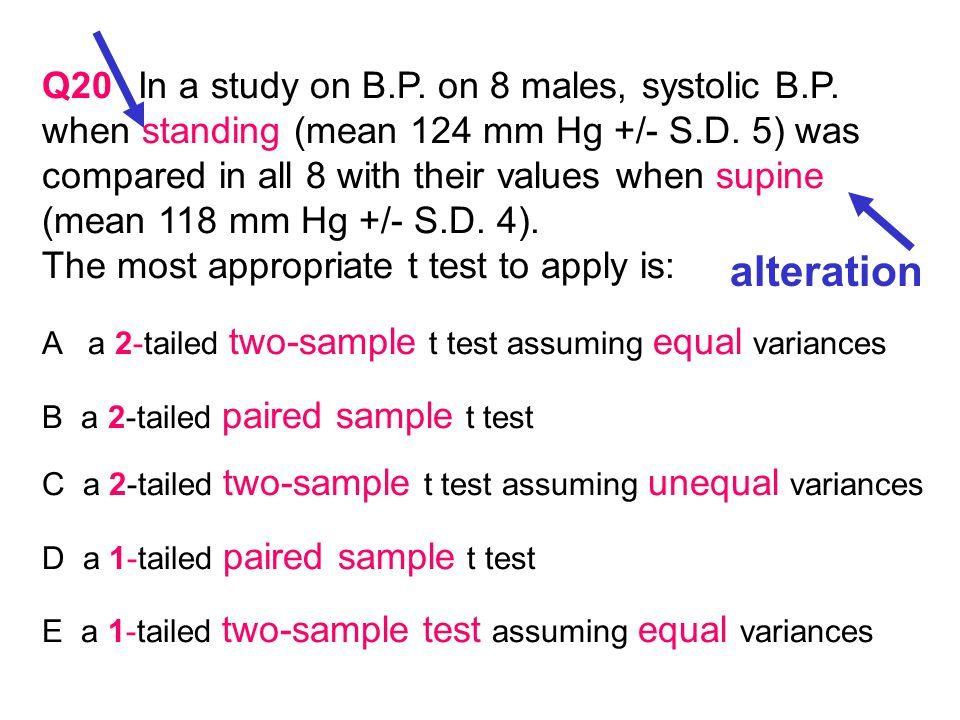 Q18Which of the following statements is TRUE about t tests of the Type shown in Table 4 .