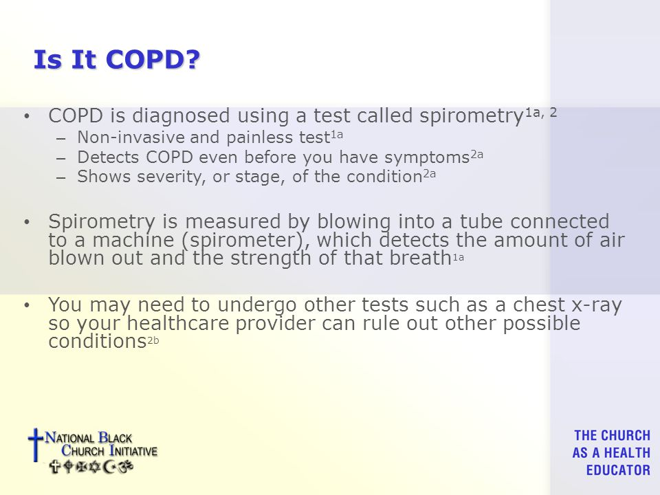 Is It COPD.