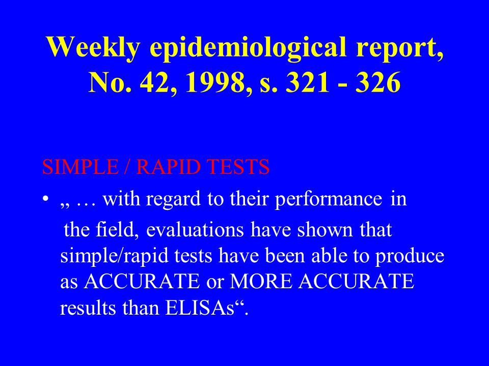 Weekly epidemiological report, No. 42, 1998, s.