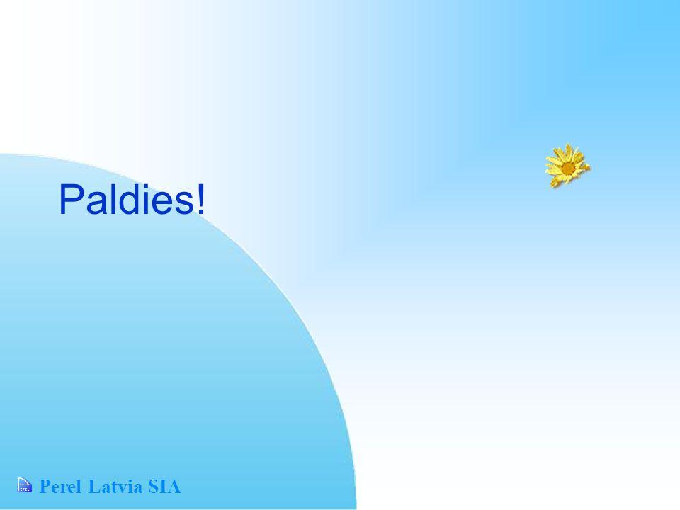 Perel Latvia SIA Paldies!
