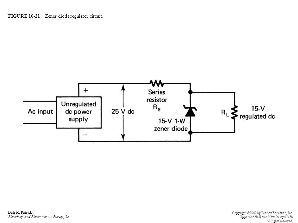 FIGURE 10-21 Zener diode regulator circuit.Dale R.