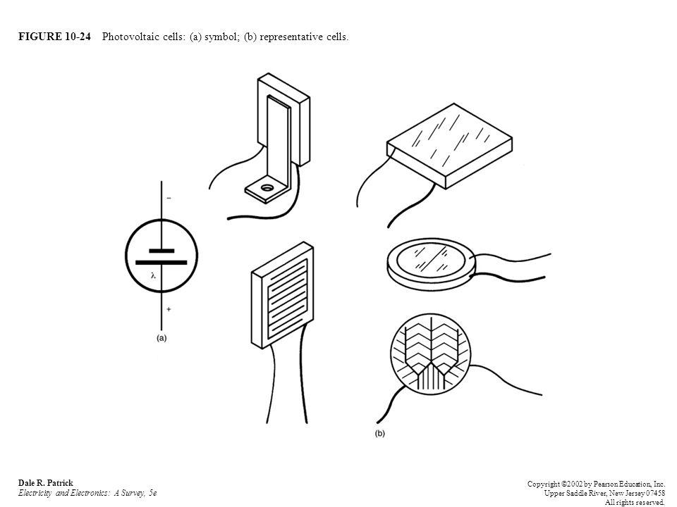 FIGURE 10-24 Photovoltaic cells: (a) symbol; (b) representative cells.