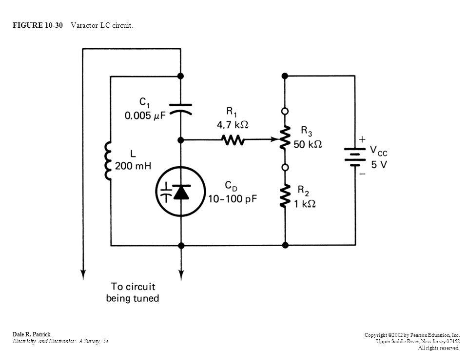 FIGURE 10-30 Varactor LC circuit.Dale R.