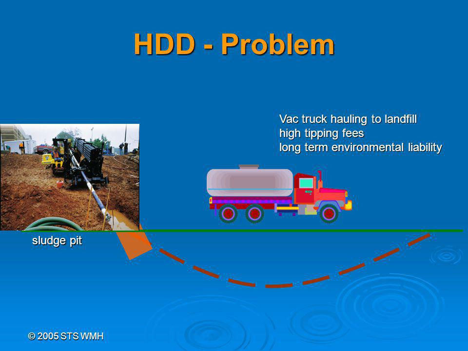 © 2005 STS WMH HDD - Problem sludge pit Vac truck hauling to landfill high tipping fees long term environmental liability