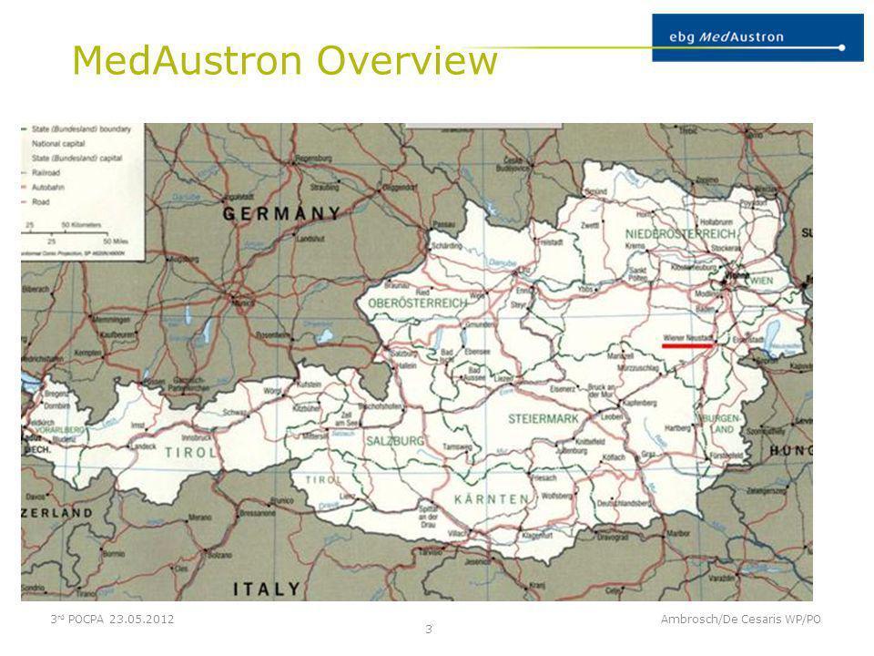 MedAustron Overview Ambrosch/De Cesaris WP/PO 4 3 rd POCPA 23.05.2012