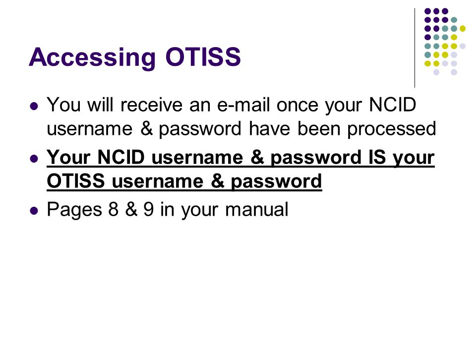 Reporting an Irregularity Pages 10-13 in your manual https://schools.nc.gov/otiss Must log out of OTISS