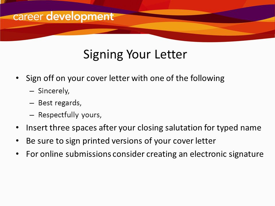 Cover Letter Closing Regards - Cover Letter Templates