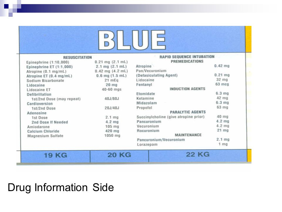 Drug Information Side