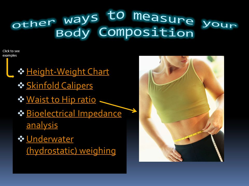 BMI Chart Underweight Less than 18.5 Normal18.5-24.1 Overweight25-29.9 Obese I30-34.9 Obese II35-39.9 Morbidly Obese Over 40 BMI = Your Weight X 703 (height In.)(height in.) Then Compare Answer to BMI Chart