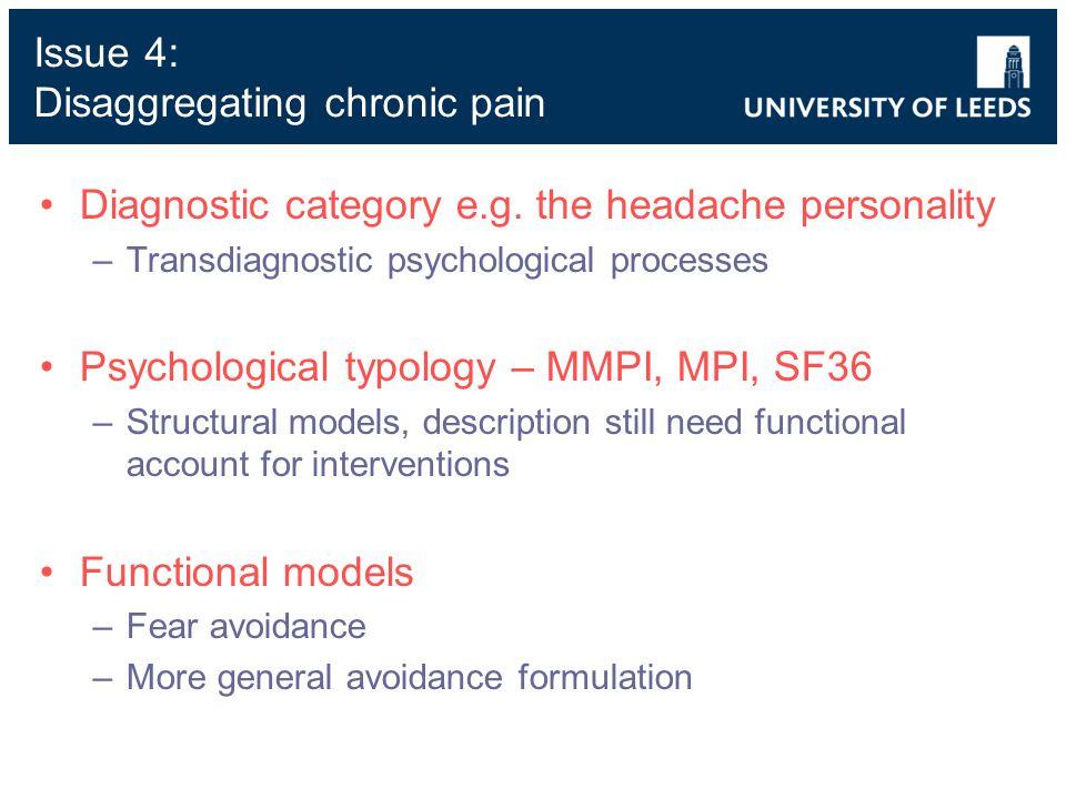 Diagnostic category e.g.