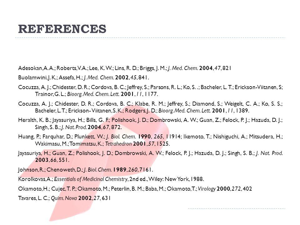 REFERENCES Adesokan, A. A.; Roberts, V. A.; Lee, K.