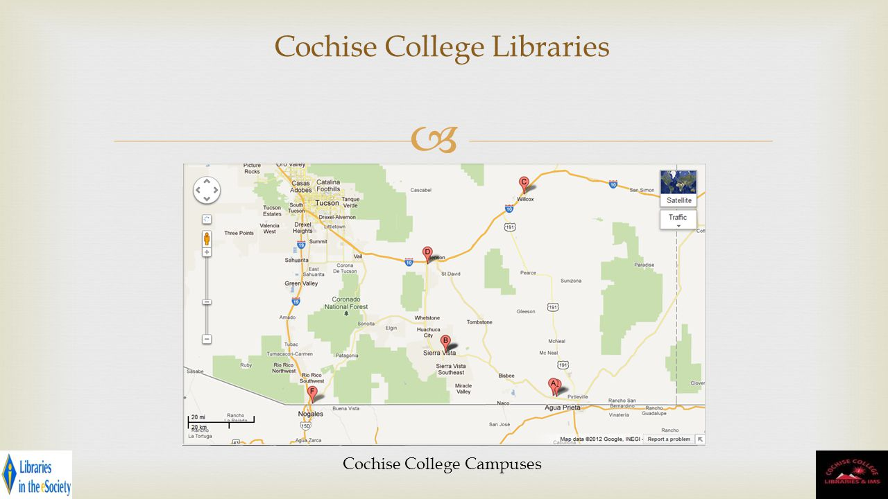 Cochise College Libraries Cochise College Campuses