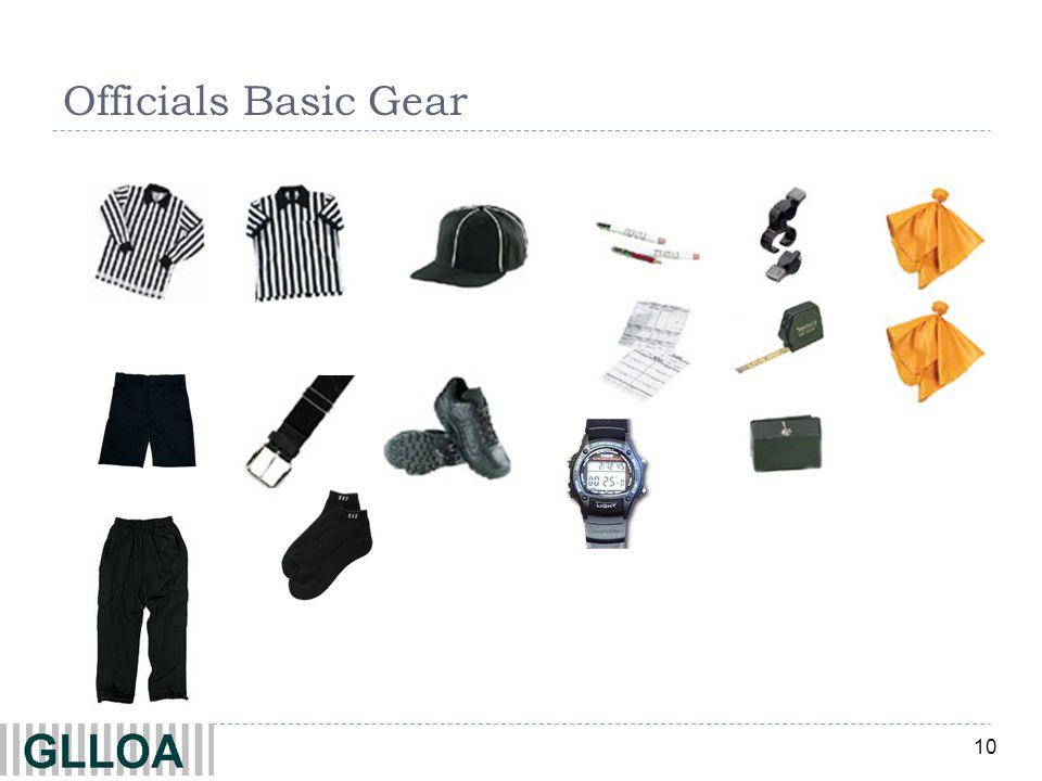 10 Officials Basic Gear