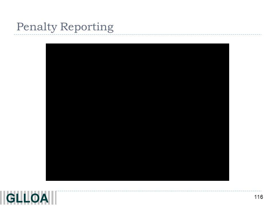116 Penalty Reporting