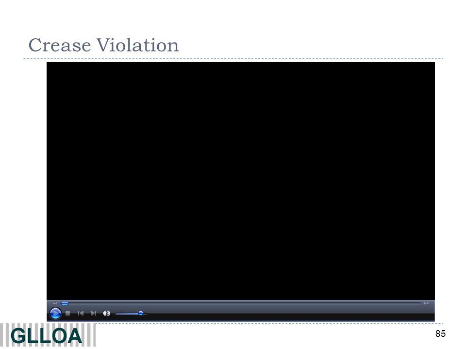85 Crease Violation
