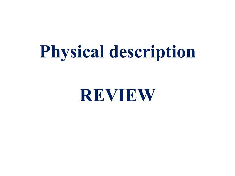Physical description REVIEW