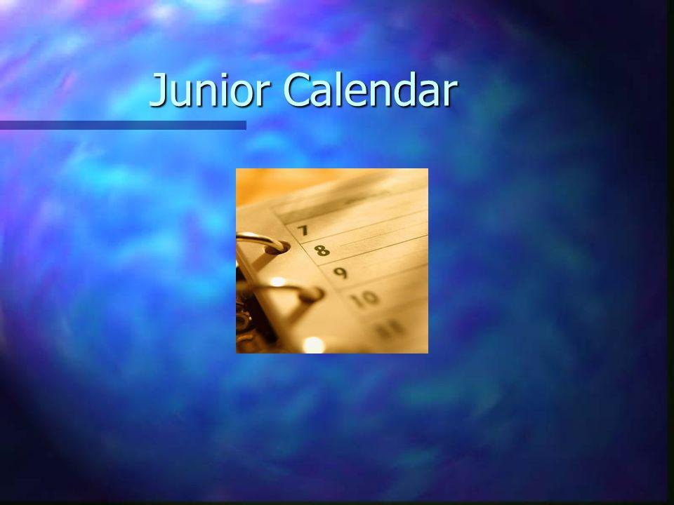Junior Calendar