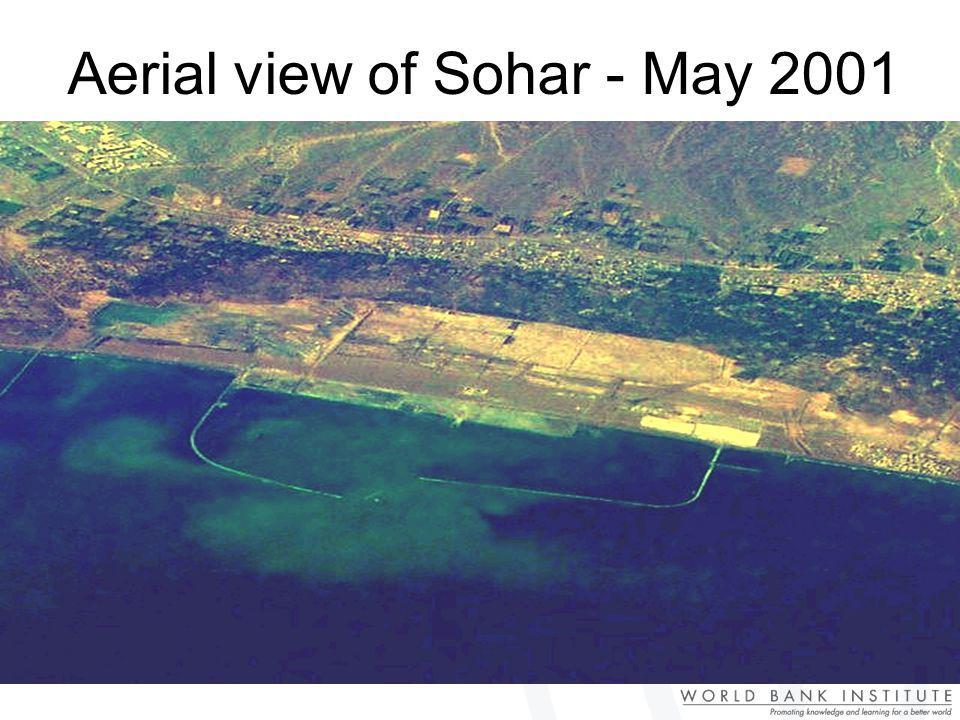 Aerial view of Sohar - May 2001