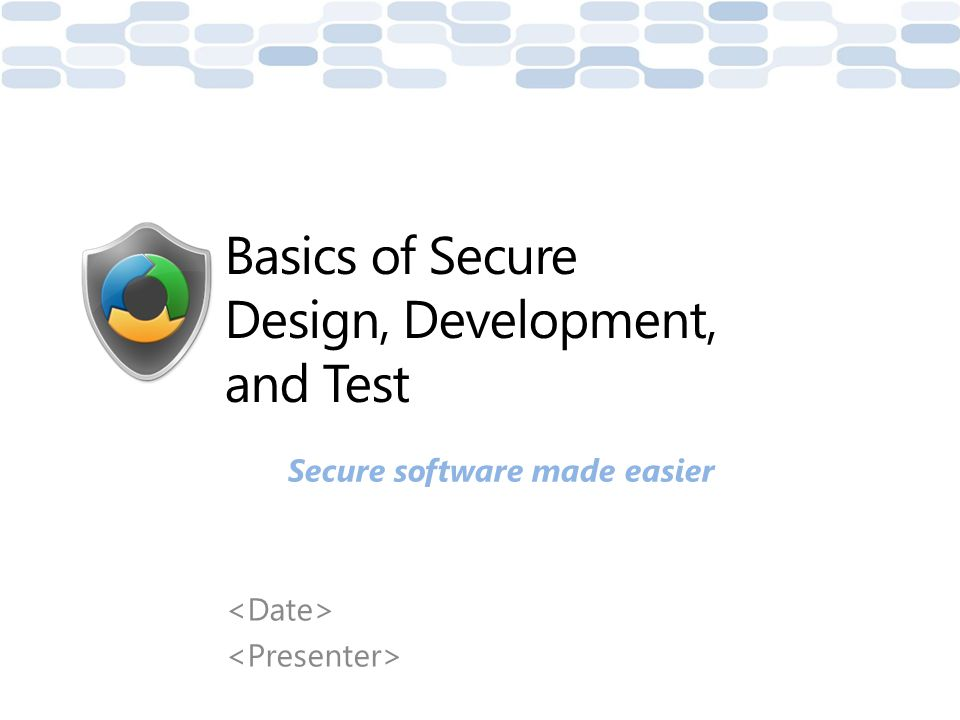 Motivation In this course, we will: – Look at the Microsoft Security Development Lifecycle (SDL) – Briefly review some secure design, development, and test concepts – Explore the security issues that arise if these design, coding, and test principles are not properly applied This will provide you with information that you can use to make your software more secure