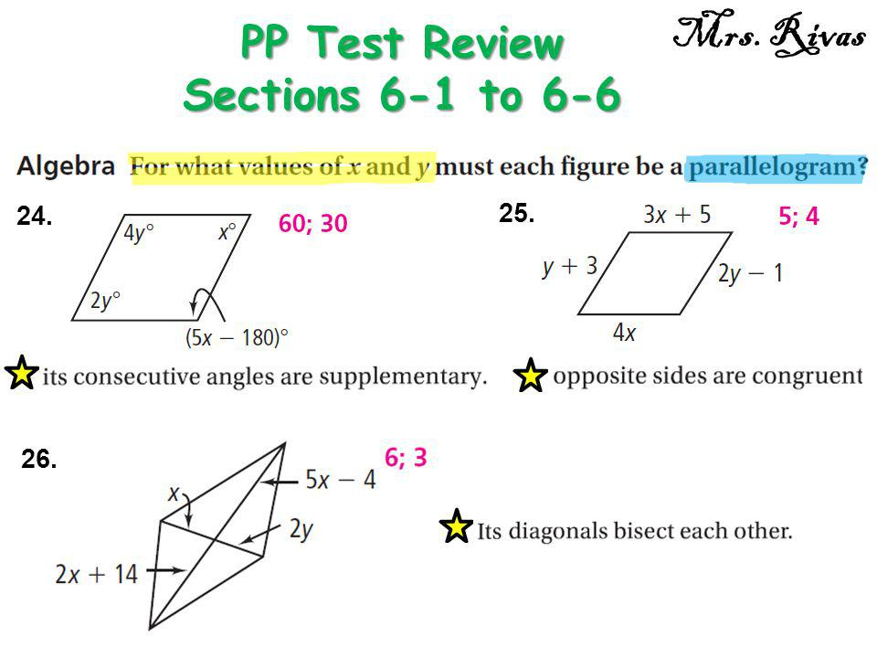 24. PP Test Review Sections 6-1 to 6-6 Mrs. Rivas 25. 26.