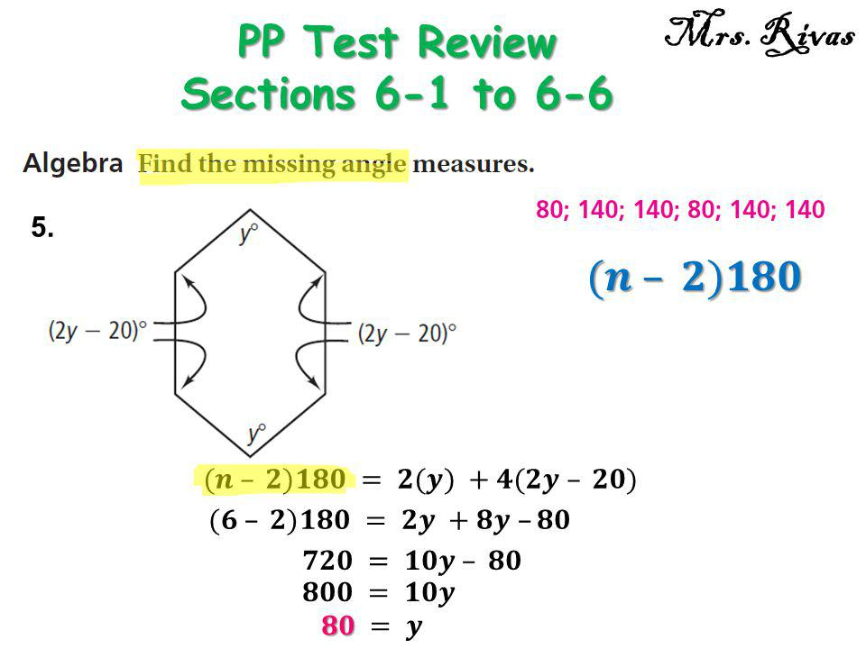 5. PP Test Review Sections 6-1 to 6-6 Mrs. Rivas