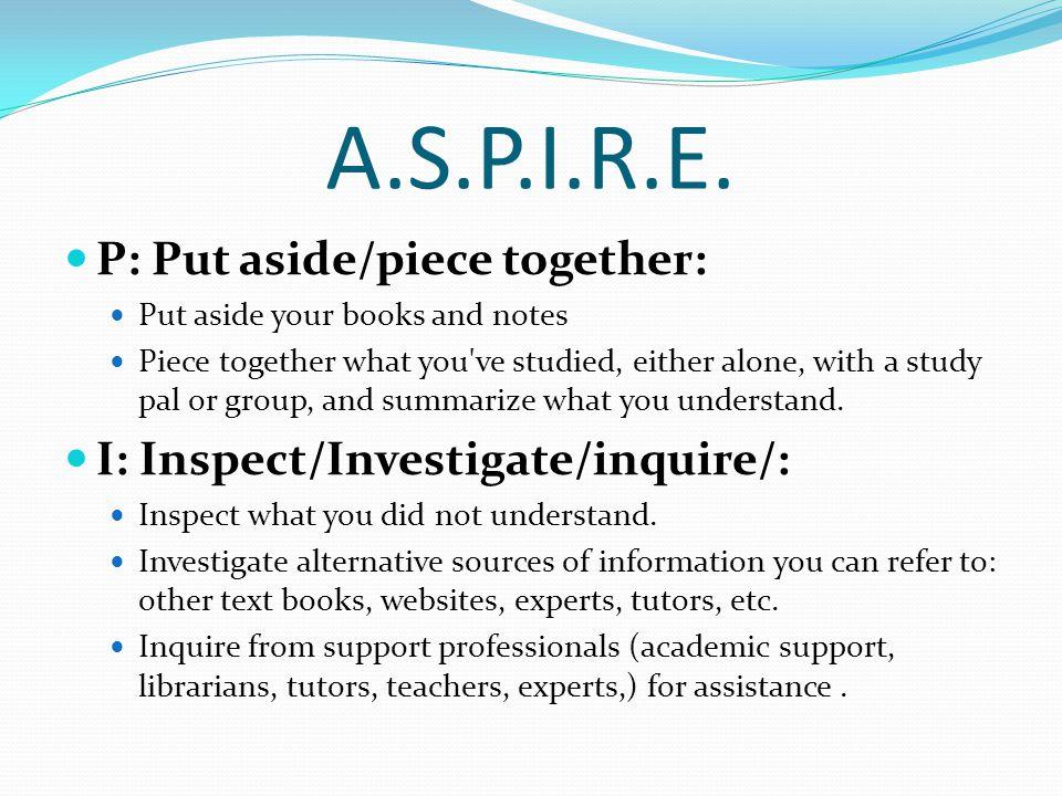 A.S.P.I.R.E.