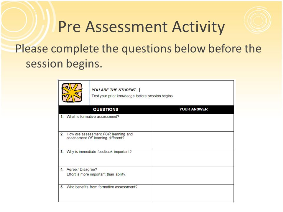 Museum Walk of Formative Assessments 1.