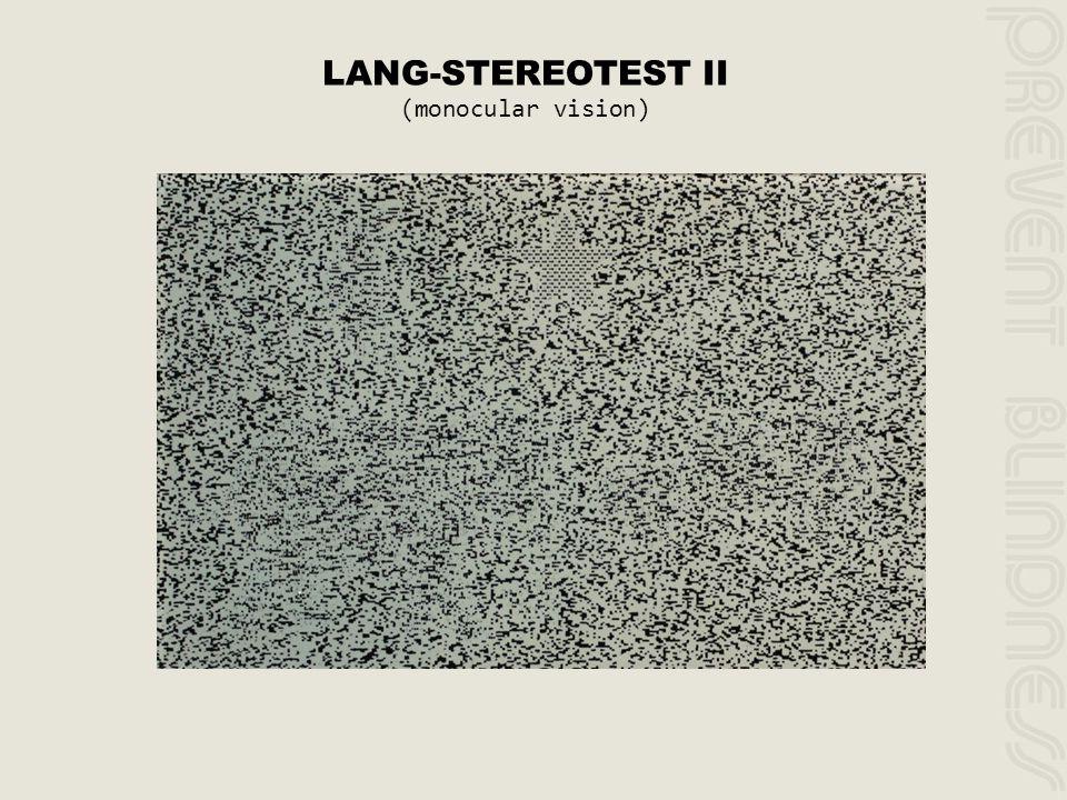 LANG-STEREOTEST II (monocular vision)